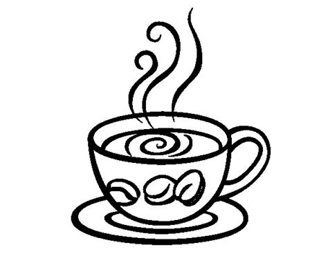 Espresso Coffee Coloring Page Scrapbook Food Free Coffee Cup Coloring Pages