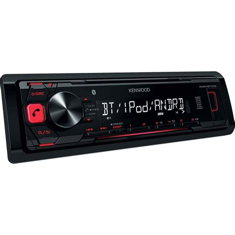 car stereo with usb kenwood kmm bt302 mechless car stereo with bluetooth usb