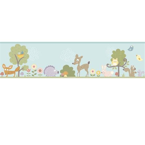 wall borders stickers woodland animals wall sticker border stickers for wall
