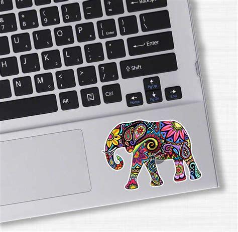 design laptop decal small elephant laptop decal colorful design bumper sticker