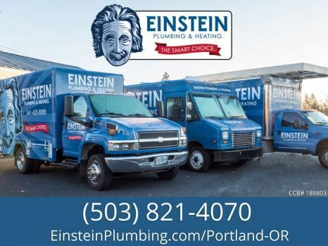 einstein plumbing and heating portland or cylex 174 profile