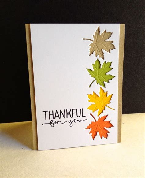 Handmade Fall Cards - 25 best ideas about thanksgiving cards on