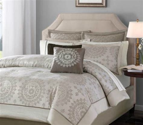 beautiful 12 pc taupe ivory cal king size comforter bed