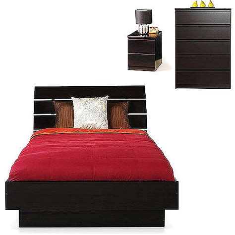 laguna queen platform bed with headboard lacquered espresso laguna 3 piece queen bed nightstand and 5 drawer chest