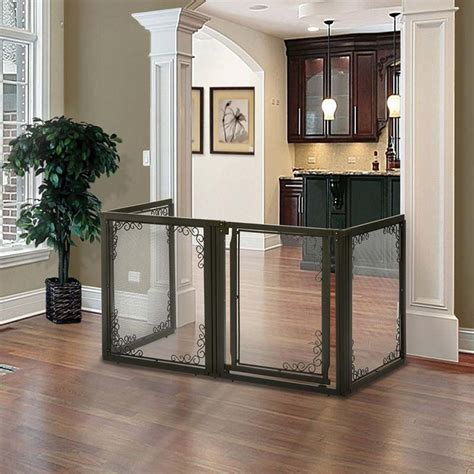 mesh dog gates house richell 3 in 1 convertible elite mesh pet gate pen 4 panel