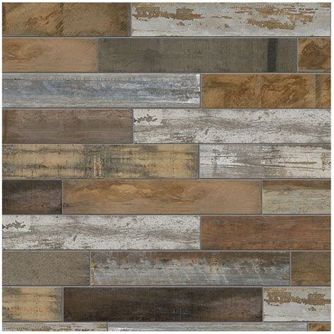 marazzi montagna wood vintage chic 6 in x 24 in porcelain floor and wall tile 14 53 sq ft