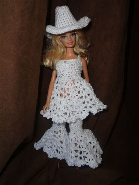 pattern clothes for barbie the cowboy cowgirl free barbie hat crochet pattern kath