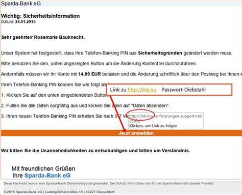 sparda bank pin vergessen kundenwarnung sparda bank 196 nderung erforderlich passwort
