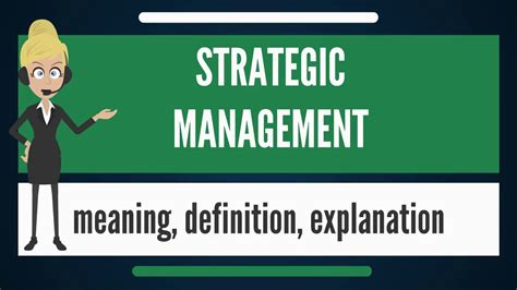 Management Strategic 6 what is strategic management what does strategic