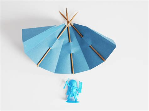 How To Make Teepee Out Of Paper - printable papercraft teepee handmade