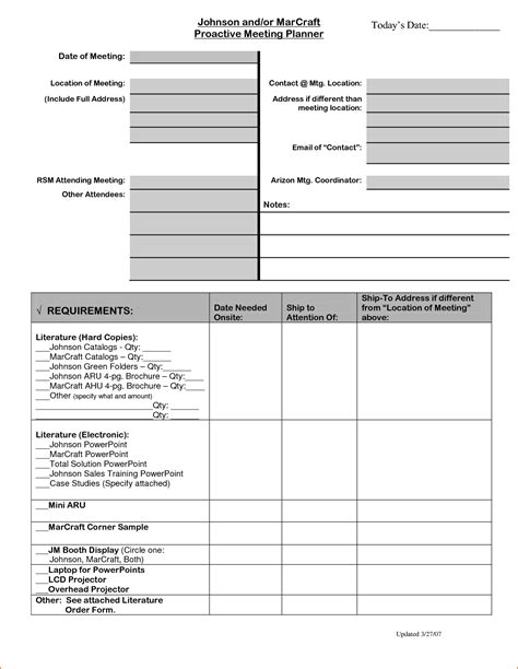 meeting planner template teknoswitch