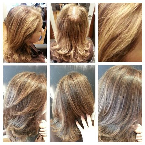 Balayage Highlights For Grey Hair Before And After | balayage highlights for grey hair before and after