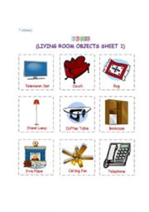 objects in the living room teaching worksheets living room