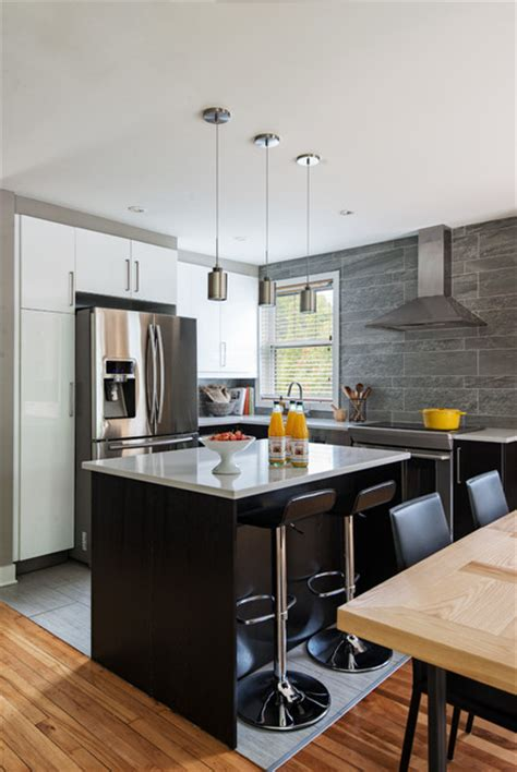 Kitchen Designer Montreal Contemporary Kitchen By Lapointe Interior Designer