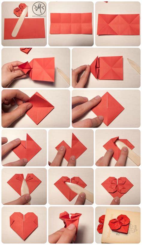 bettdecke zum herz falten die besten 17 ideen zu origami herz auf herz