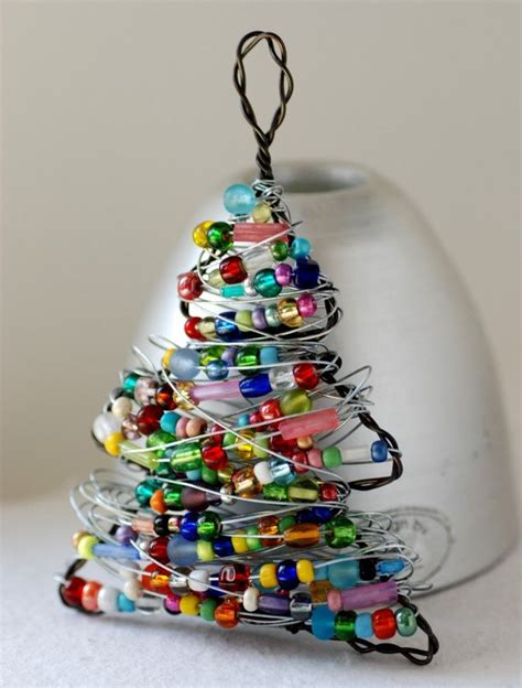 christmas ornament beaded christmas tree wire tree
