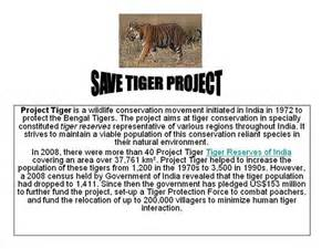 Save Tiger Essay In by Save Tiger Project Authorstream