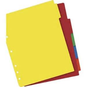 color dividers avery 174 plastic 5 tab colored dividers quill