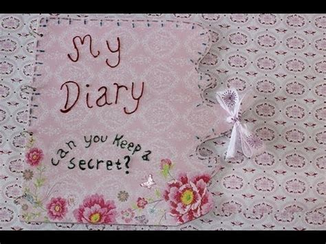 How To Make A Secret Diary Out Of Paper - diy diary or book