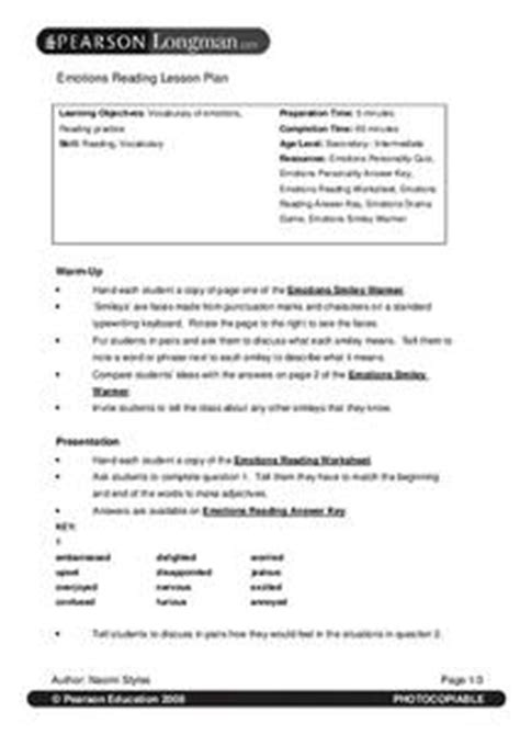 Emotions Reading Lesson Plan for 2nd - 6th Grade | Lesson
