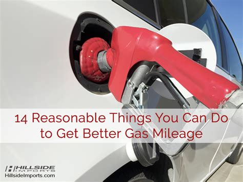 Ways To Get Better Gas Mileage by Gas Millage Ideal Vistalist Co