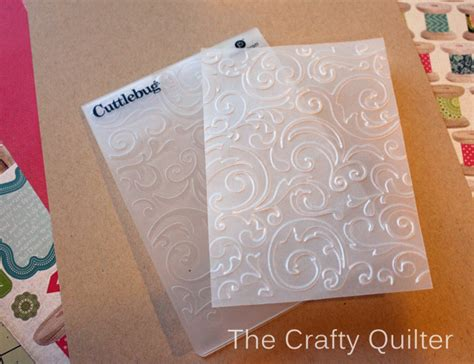 How To Make Embossed Paper - how to emboss cardstock the crafty quilter