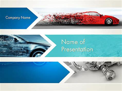 powerpoint themes cars cars and transportation powerpoint presentation templates