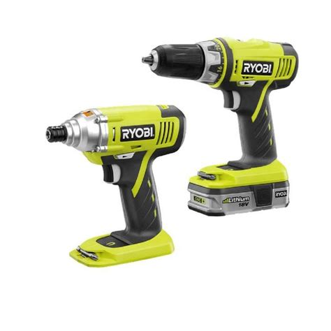 ryobi reconditioned 18 volt lithium ion drill and impact