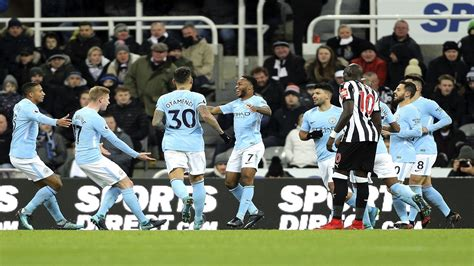 epl man city man city beat newcastle 1 0 and move 15 points clear in