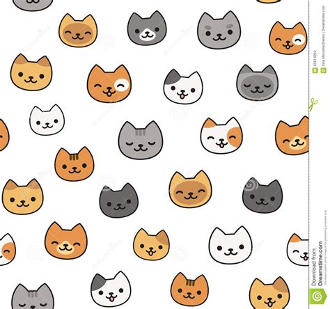 cute pattern cats cute cat pattern stock vector image 65614264