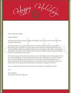 Holiday Letter Template Free Christmas Letter Template 9 Free Word Pdf Documents