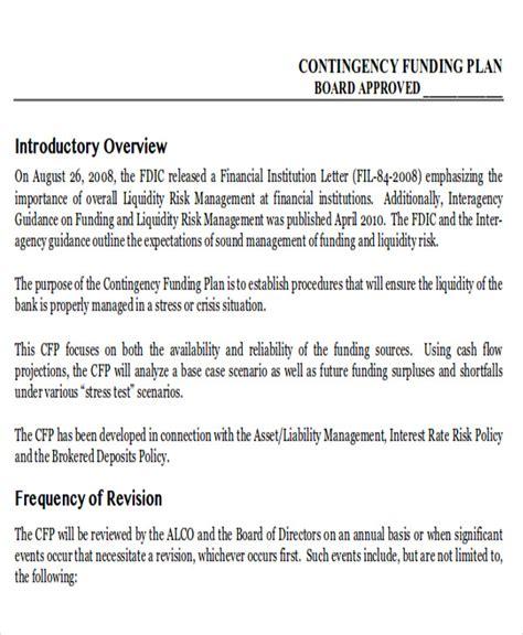 contingency plan exle 9 sles in word pdf