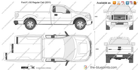 F Drawing Size by The Blueprints Vector Drawing Ford F 150 Regular Cab