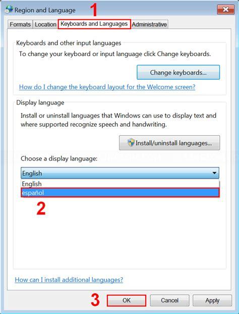 change display language on windows 7 linglom com