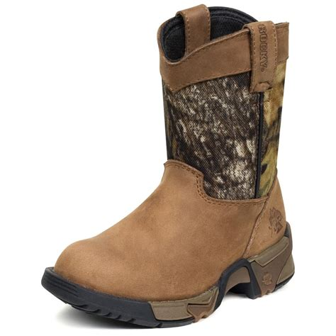 rockies boots for boys rocky 174 aztec wellington boots brown mossy oak