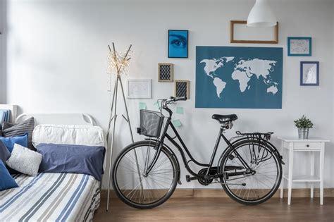 bici da casa decorare la casa con le biciclette