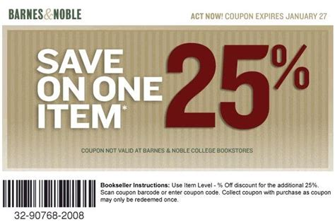 printable gift certificates barnes and noble coupon heaven printable coupon for barnes noble exp 1