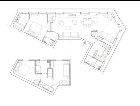 eiffel tower floor plan designer three bedroom paris holiday apartment near the