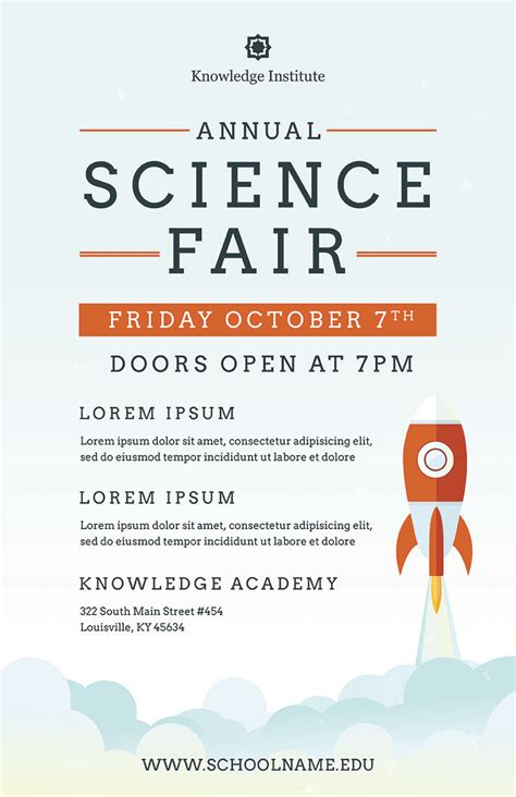 science fair template science fair flyer template psd docx the flyer press