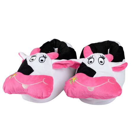 mad slippers novelty slippers for mad cow padded plush