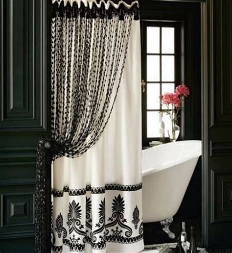 elegant black curtains elegant black and white shower curtain for the home