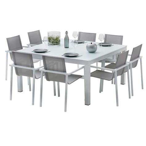 table de cuisine carr馥 8 places ensemble table et chaises de jardin extensibles carre