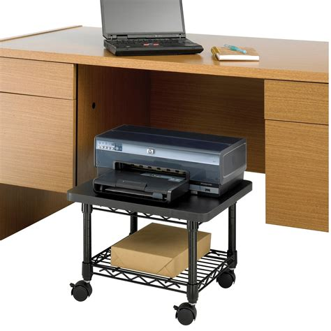 printer desk stand safco products 5206bl desk printer