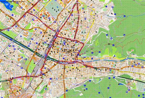 map of freiburg city maps freiburg