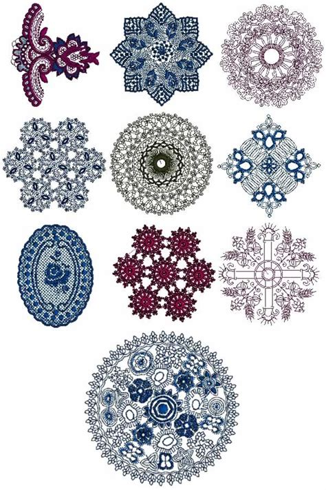 embroidery design lace 10 set of decorative lace for linen machine embroidery designs