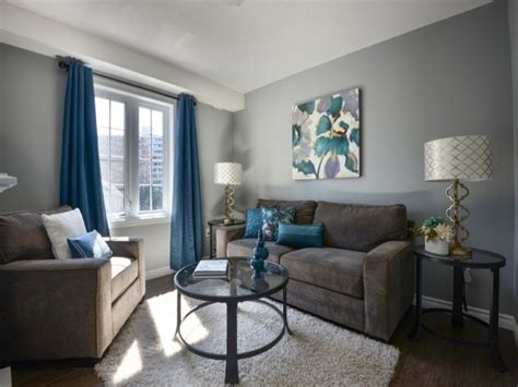 grey walls living room orange blue and grey living room modern house