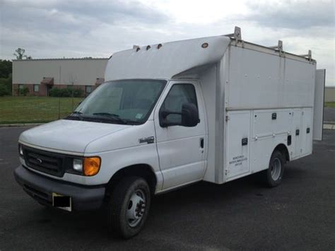 Used Plumbing Vans For Sale by Buy Used 2007 Ford E 350 Duty Dually Utility Tool