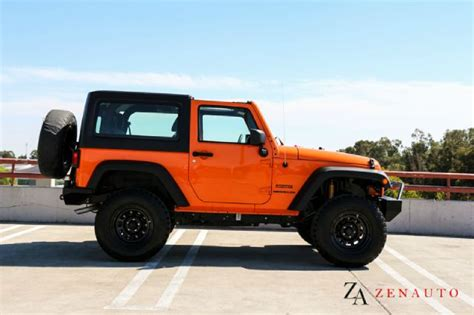 orange jeep lifted 2012 jeep wrangler sport 4x4 custom lifted jk hardtop