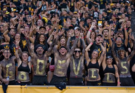 student section themes for football games photo highlights week in sports asu now access