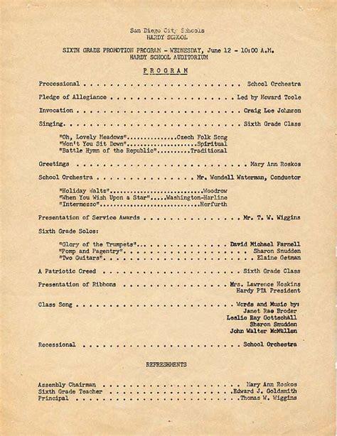 hardy elementary graduation program june 1957